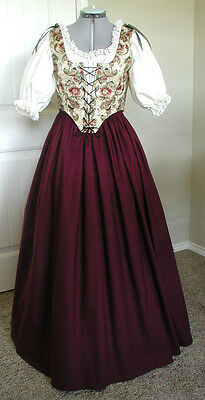 Renaissance Medieval Pirate Wench Faire Dress Gown Costume