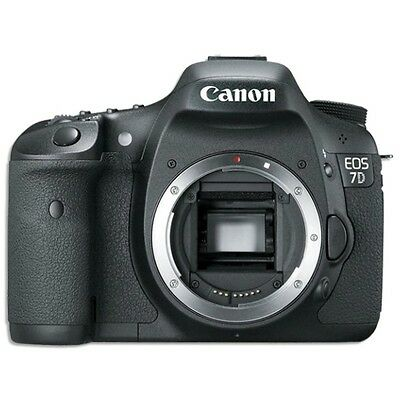 Canon EOS 7D 18.0 MP Digital SLR Camera - Black (Body Only) *NEW*