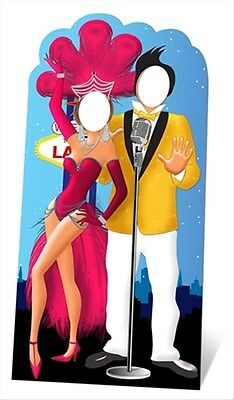 Las Vegas Standin Cardboard Cutout - Great for photo ops Casino party & parties!