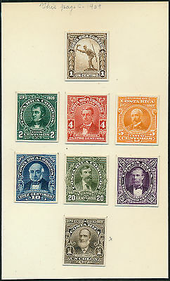 COSTA RICA #69-76P3 XF-SUPERB ABNCo. PLATE PROOFS ON INDIA (EX-GREEN) HV5301