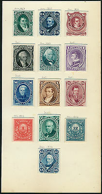 ARGENTINA #17P3//54P3 (13) DIFF ABNCo PLATE PROOFS ON INDIA XF-S EX-GREEN HV5316