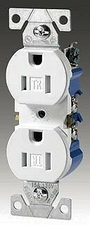 (10) Cooper Wiring TR270W-BOX 15A 125V White Tamper Resistant Duplex Receptacles