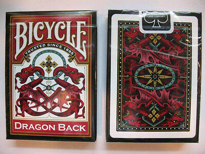 Bicycle Dragon Back Red Playing Cards - 1 Deck