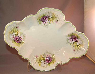 """Gorgeous """"Pansy"""" James Kent Old Foley Scalloped Edge Made in England Bowl!"""