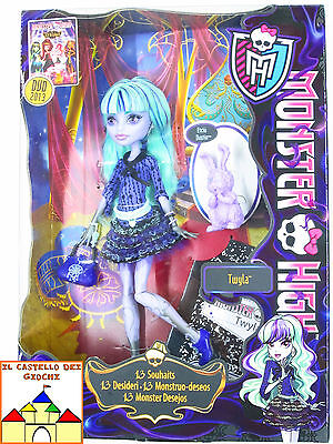 Monster High Bambola TWYLA 30cm con Etciu Dustin by Mattel Barbie nuovo