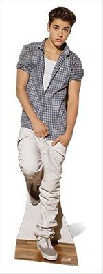 Justin Bieber in Check Shirt Official Celeb. Cardboard Fun Cutout -At Your Party