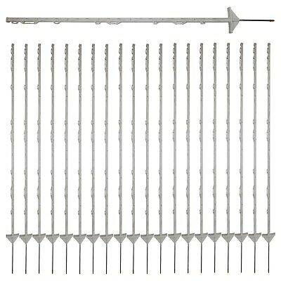 20x Insulated Multi Wire Electric Poly Posts for Electric Fence Solar Energiser