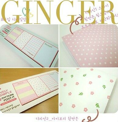 Simple&Lovely Pattern Post It Bookmark Sticker Point It Marker Memo Sticky Notes