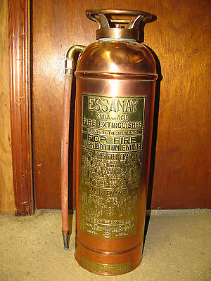 Antique Essanay Fire Extinguisher by Pyrene Co.