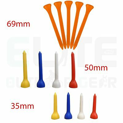 Plastic Golf Tees 35mm/50mm/69mm Sizes Available - Various Qty's
