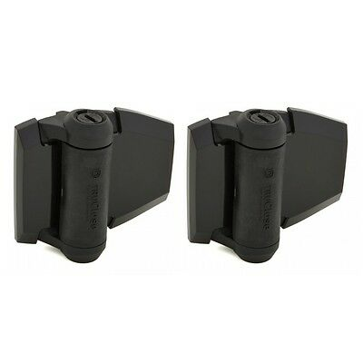 D&D Tru Close TCA2S3BT Self Closing Gate Hinge Regular Black Swimming Pool PAIR