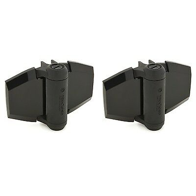 D&D Tru Close TCA3L2S3BT Self Closing Gate Hinge + 2 Alignment Legs Black