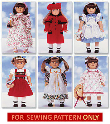 Sewing Pattern! Make Doll Clothes! Fits American Girl Samantha~Molly~Kit~Ruthie!