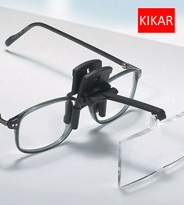 Clip and Flip Optics Acrylic Magnifier Dental Dentist Tattoo Watchmaker Tool Kit