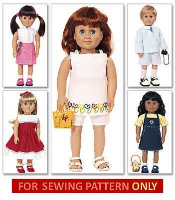 FITS AMERICAN GIRL MCKENNA~MARISOL~JULIE! MAKE DOLL CLOTHES SEWING PATTERN
