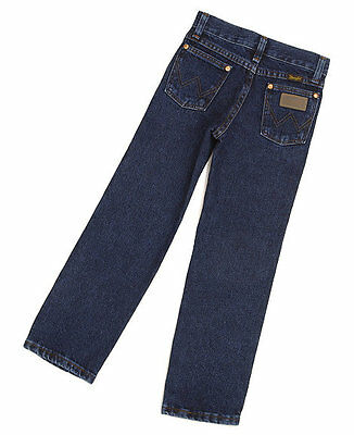 WRANGLER Boys COWBOY CUT Jeans - 1T Regular - PRE WASHED INDIGO - NWTs - 13MWZJP