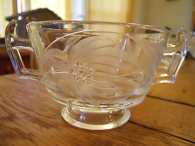 Heisey Crystal Yeoman Footed Bouillon