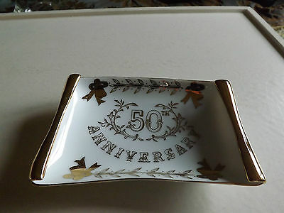 Lefton China 4562 50th Anniversary Dish