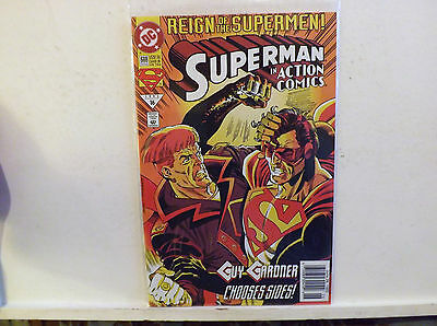 1993 July D C Comic Book Reign of the Supermen Superman in Action Comics