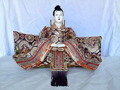 JD 101 Japanese Antique Emperor Hina Doll Ningyo Extra Large