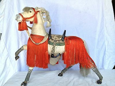 JD 102 Japanese Antique Horse Doll Hina Ningyo Extra Large