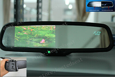 "Auto dimming mirror+4.3""LCD display+compass+temp, fits Ford,GM,Toyota,Nissan.etc"