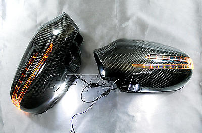 Mercedes W140 95~98 S-Class BLACK Arrow Type LED Side Mirror Cover S320//350//500