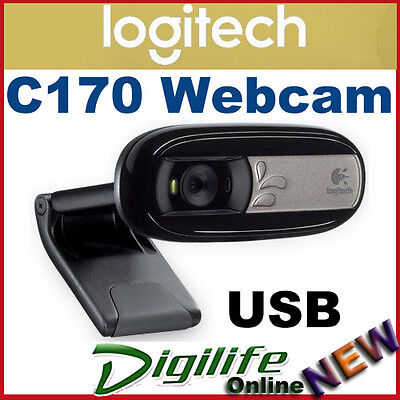 Logitech C170 Webcam USB with MIC Universal clip, VGA-quality video, 5MP Photos