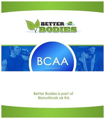 BCAA Branched Chain Amino Acids Capsules Supplement Capsules Muscle Increase UK