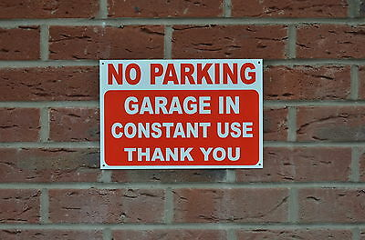 No Parking Garage In Constant Use Thank You Sign Or Sticker 3 Sizes