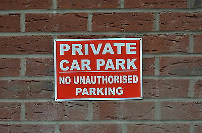 Private Car Park No Unauthorised Parking Screen Printed Sign Or Sticker 3 Sizes
