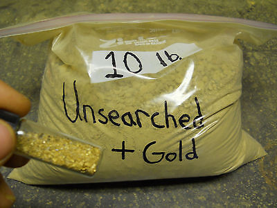 10 lbs. of Rich Unsearched NC Gold Paydirt, plus gold added!!!