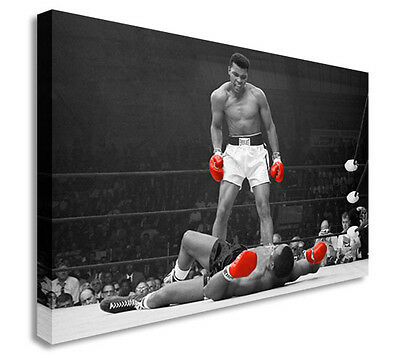 Muhammad Ali VS Sonny Liston Wall Picture Canvas Art Cheap Print