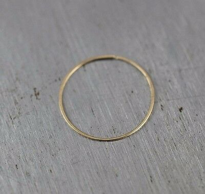 be996a572 Nose Ring Earring 14k SOLID GOLD Hoop 30 gauge Tragus Helix Cartilage Thin