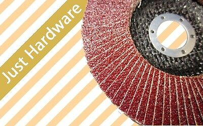 "10 x 100mm 4"" FLAP DISCS DISC WHEELS GRINDER METAL grip 40 60 80"