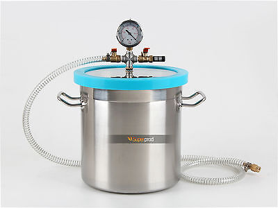 Stainless Vacuum Degassing Chamber 3 Gallon Extracts Resin Silicone Concentrates