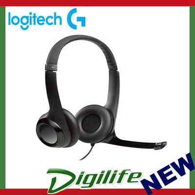 Logitech H390 USB Headset PC/Mac Headphone Microphone Comfort Noise-cancelling