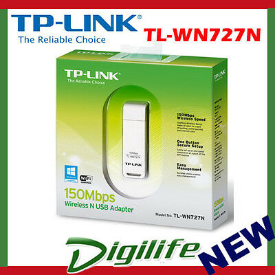 TP-LINK 150Mbps Wireless N150 USB Adapter TL-WN727N WiFi Dongle