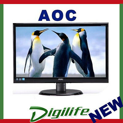 "AOC 21.5"" 5ms Full HD Narrow Bezel Monitor - DVI/VGA,Tilt,VESA 100 E2270SWDN"