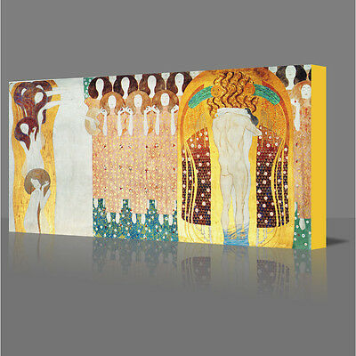 "GUSTAV KLIMT Choir Of Angels Large 16"" Framed Canvas Art Picture Print"
