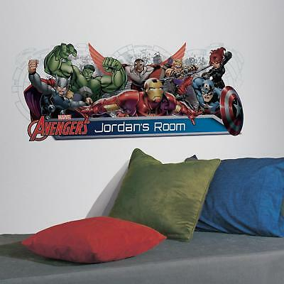 New GIANT AVENGERS ASSEMBLE PERSONALIZED WALL DECALS Headboard Stickers Decor