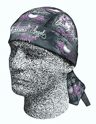 Pink Chrome Angel Headwrap Bandanna Sweatband Durag Capsmith Free Shipping