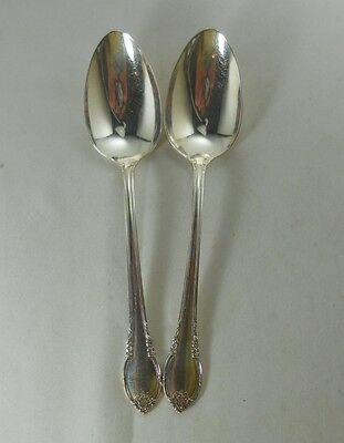International Silver Remembrance Silverplate Pair of Serving Spoons