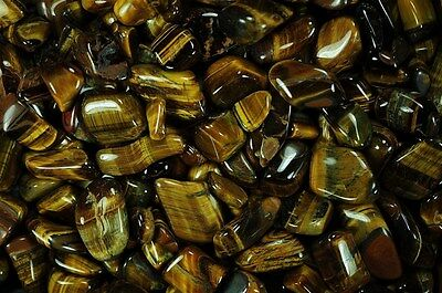 18 Pounds Tumbled Gold Tigers Eye - 'A' Grade - Reiki, Crystal Healing