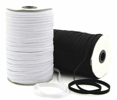 Flat Corded Elastic Black/white For Waistbands Cuff Sewing Dressmaking Tailoring