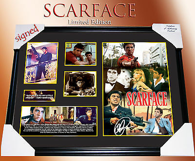**SPECIAL DEAL** SCARFACE MEMORABILIA SIGNED FRAMED LIMITED EDITION 499 w/ C.O.A