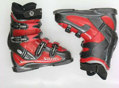 Used Rossignol Salto Red & Black Ski Boots Women's 6.5