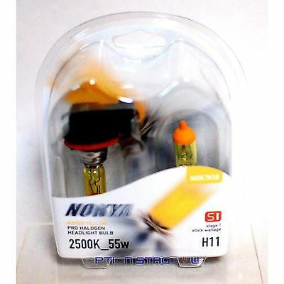 Nokya Hyper Yellow H11 Pro Halogen Headlight Fog Light Bulb 2500K Stage 1