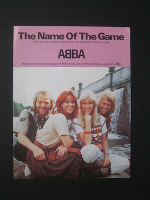 ABBA 70's sheet music- THE NAME OF THE GAME
