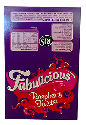 Wonka Fabulicious Raspberry Twister 1kg Box 90 Pieces Candy Buffet Party Favors
